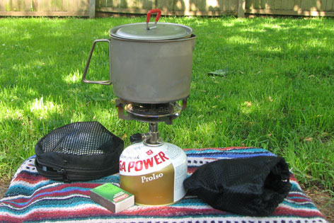 classic trail stove in use