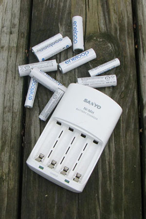 Eneloop batteries and charger