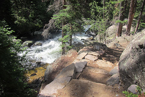 Cascade Falls from North Inlet Trail