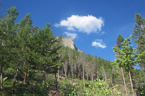 Deer Mountain Buttress from North Deer Mountain Trail
