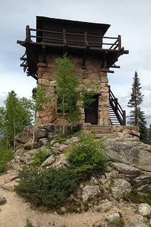 Shadow Mountain Fire Tower in Rocky Mountain National Park
