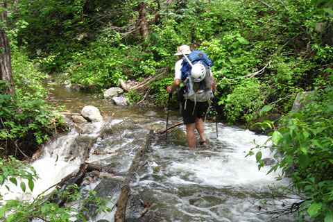 Crossing a Creek with Pack