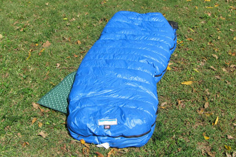 SLeeping bag and pad